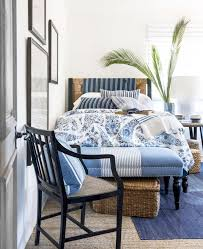 nice blue and white bedroom country living magazine home design
