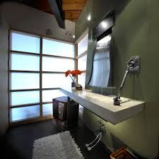 pretty waterfall faucet in bathroom contemporary with ceiling