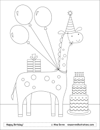 birthday cake colouring pages funycoloring