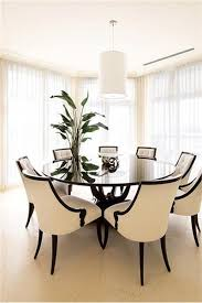 try a circular table for your dining space much nicer than a