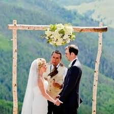 wedding arbor kits white birch wedding arches from the woods of northern wisconsin