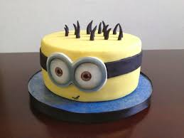 Minion Cake Decorations Minion Birthday Cake Round Image Inspiration Of Cake And