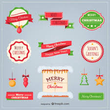 flat christmas elements pack vector free vector download in ai
