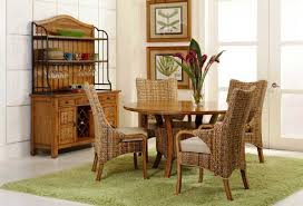 dining room round wicker outdoor chair cane back dining chairs