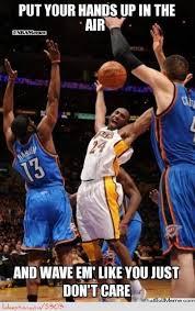 Funny Basketball Meme - kobe bryant and company http weheartokcthunder com nba funny