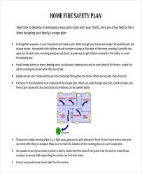 home fire safety plan 29 safety plan sles free premium templates