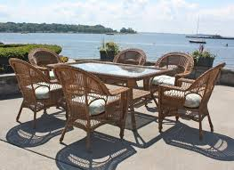 Rattan Dining Table And Chairs Dining Room Inviting Lakehouse Deck With Traditional Rattan