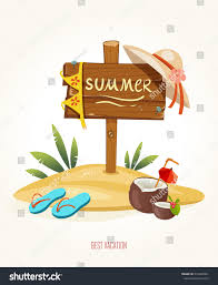 holiday cocktails clipart beach sign summer holiday cocktail coconut stock vector 210045901