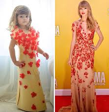 4 year old creates stylish paper dresses together with her mother