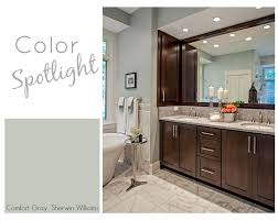 sherwin williams bathroom cabinet paint colors color spotlight sherwin williams comfort gray comfort gray