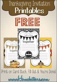 thanksgiving invitation printables free