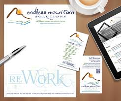 Business Card And Letterhead Business Cards And Letterhead Endless Mountain Solutions