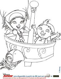 coloriage disney izzy frise jake les pirates jake