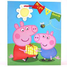 peppa pig large gift bag cardfactory