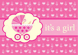 baby girl announcements baby girl arrival announcement card royalty free cliparts