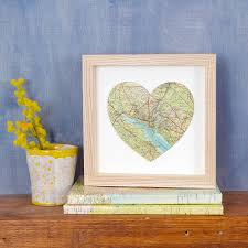 New Home Gift by Personalised Map Location Heart New Home Gift 21cm By Bombus