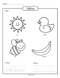 colors theme activities printables preschool