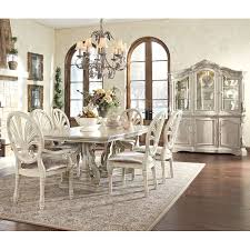 formal dining room sets with china cabinet stylish antique white dining room sets and halyn antique white