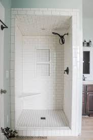 large subway tile shower full size of with dark floor shower wall