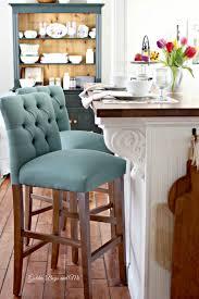 kitchen island with breakfast bar and stools target threshold tufted bar stool www goldenboysandme com diy