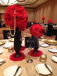 great gatsby centerpiece table setting old hollywood decor