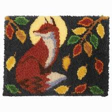 craftways moonlit fox latch hook