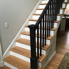 Painted Banisters Paint It Black Young U0026 Son Woodworks Stairs Built In Cabinets