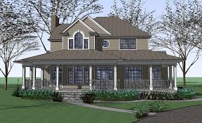wrap around porch homes farmhouse floor plan wrap around porch garage house plans 81937