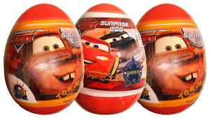 3 surprise eggs cars pixar disney lightning mcqueen mater sheriff