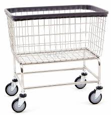 Laundry Hamper With Wheels by R U0026b Large Capacity Rolling Laundry Cart Chrome Basket P N 200f
