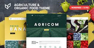 theme wordpress agriculture agricom agriculture organic food wordpress theme pack by ninetheme