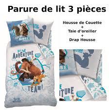 La Reine Des Neiges Parure De Lit by Age De Glace Parure De Lit 3pcs Housse De Couette Taie D
