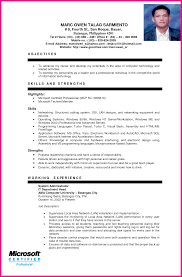 Gallery Of Professional Information Technology Resume Samples Resume Sample For Ojt Information Technology Bongdaao Com