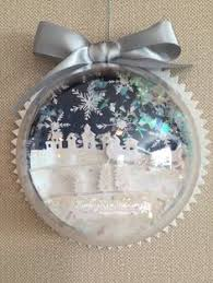 snow globe ornament half dome mounted on flat back with paper