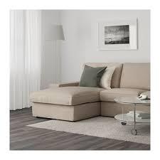 Ikea Sofa Chaise Lounge Kivik 3 Seat Sofa With Chaise Longue Hillared Beige Ikea