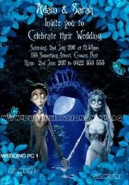 Gothic Halloween Wedding Party Invitation by Corpse Bride Gothic Halloween Themed Save The Date Wedding Magnets