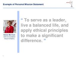 Business Intelligence Vision Statement Exles by Personal Mission And Vision Statements
