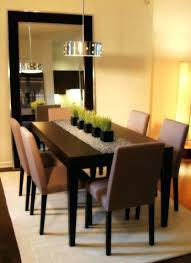 Simple Kitchen Table Decor Ideas Dining Table Flower Candle Centerpieces Put Middle Kitchen Table