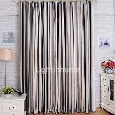 blackout modern bedroom black and grey striped curtains