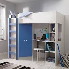 beds with desks and wardrobes high sleeper bed with desk u0026
