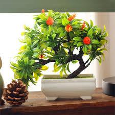 artificial plants mini bonsai for office home decoration artificial