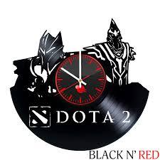 dota 2 handmade vinyl record wall clock fan gift vinyl clocks