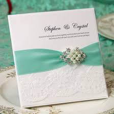 wedding invitations with ribbon ca0635 handmade lace wedding invitations with satin ribbon and