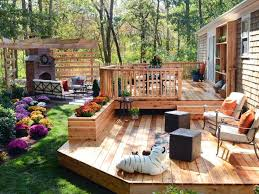 Ideas For Backyard Patios by Best 25 Two Level Deck Ideas On Pinterest Backyard Decks Large