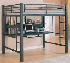 Double Loft Bed Bunks Casual Twin Workstation Loft Bunk By - Double loft bunk beds