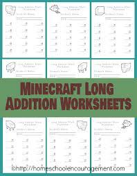 free minecraft homeschool resources printables crafts snacks