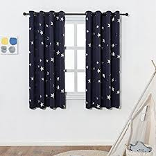 Navy Blue Curtains For Nursery Anjee Navy Blue Print Blackout Curtains For