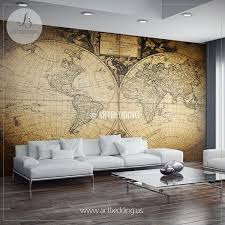 Vintage Home Interior Products Vintage Map Wall Mural Self Adhesive Photo Mural Artbedding