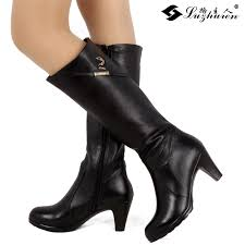 womens high heel booties qu heel