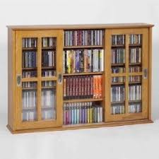 Dvd Rack Wood Plans by Dvd Storage With Doors Foter